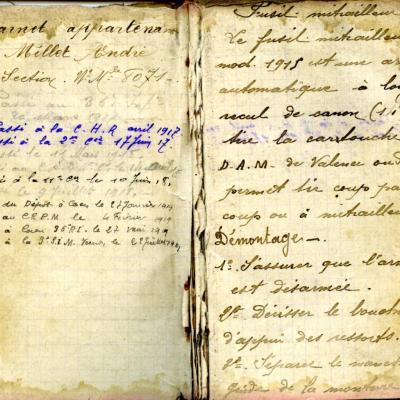 Le carnet militaire individuel (jusqu'en Juil 1919)